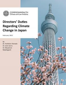 Directors' Duties Regarding Climate Change in Japan